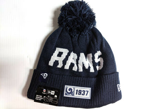 Los Angeles Rams Knit Hat New Era 2019 Sport On Field Sideline Road Cap NFL