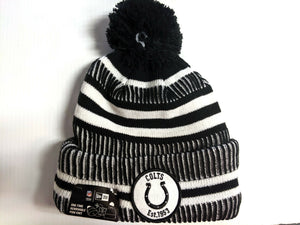 Indianapolis Colts Knit Hat New Era 2019 Black Sport Sideline Home Cap NFL