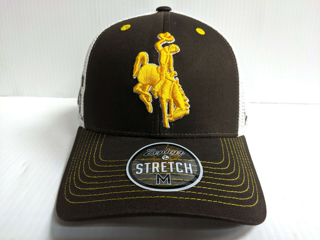 Wyoming Cowboys Cap Zephyr 2 Tone Reload Stretch Fit Fitted Hat
