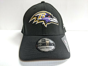 Baltimore Ravens Cap Era 39Thirty Stretch Black Team Classic Hat NFL