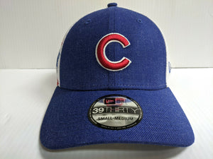 Chicago Cubs Cap New Era 39Thirty Stretch Fit Mesh Logo Turn Hat MLB