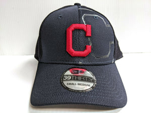Cleveland Indians Cap New Era 39Thirty Stretch Fit Team Color Tonal Neo Hat MLB