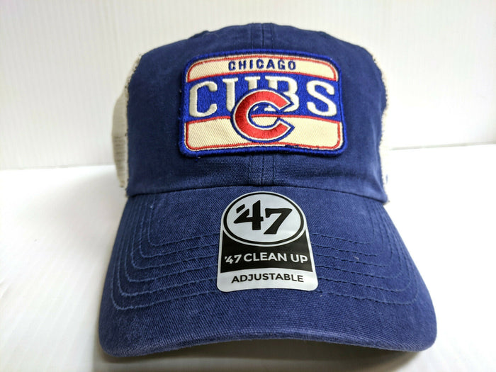 Chicago Cubs 47 Brand Cap Snapback Mesh Fluid Two Tone Clean Up Dad Hat MLB