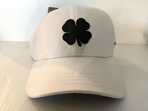 Black Clover Cap Premium Clover 1 White Black Stretch Fit Golf Hat Live Lucky
