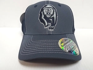 Cal Berkeley Golden Bears Cap Zephyr Stretch Fit Fitted Grid 2 Tone Hat NCAA