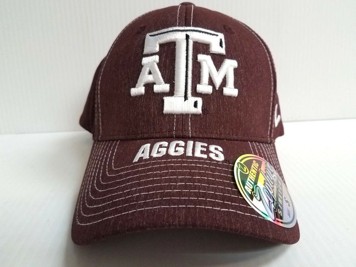 Texas A&M Aggies Cap Zephyr Stretch Fit Fitted Center Court Heathered Hat