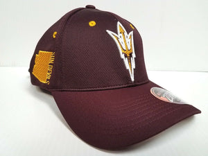 Arizona State Sun Devils Cap Zephyr Stretch Fit Fitted Stateside Hat NCAA