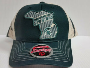Michigan State Spartans Cap Zephyr Adjustable Mesh Snapback Home State Hat NCAA