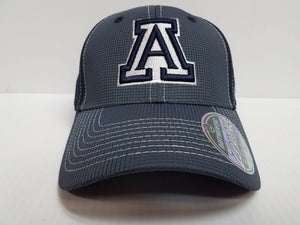 Arizona Wildcats Cap Zephyr Stretch Fit Fitted Grid 2 Tone Hat NCAA