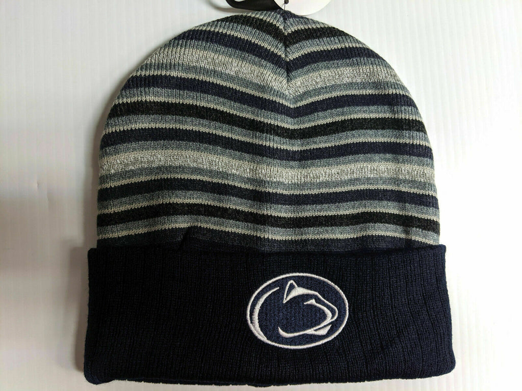 Penn State Lions Knit Hat TOW McGoat Cuff Striped Beanie Stocking Cap NCAA