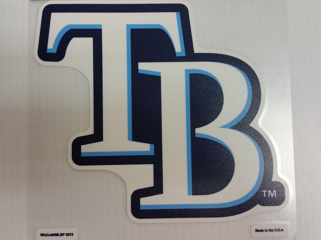 Tampa Bay Rays Colored Window Die Cut Decal Wincraft Sticker 8x8 MLB