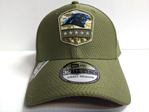 Carolina Panthers Cap Era 39Thirty Stretch Fit 2019 Salute to Service Hat NFL