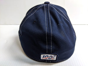 New England Patriots Cap Era 39Thirty Stretch Fit Navy 2019 Road Sideline Hat