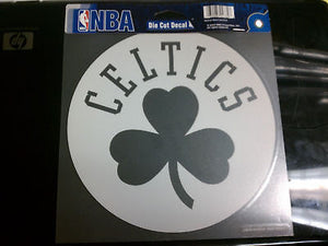 Boston Celtics White Window Die Cut Decal Wincraft Sticker 8x8 NBA