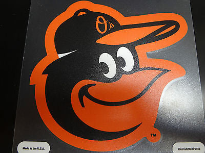 Baltimore Orioles Colored Window Die Cut Decal Wincraft Sticker 8x8 MLB