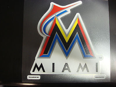 Miami Marlins Colored Window Die Cut Decal Wincraft Sticker 8x8 MLB