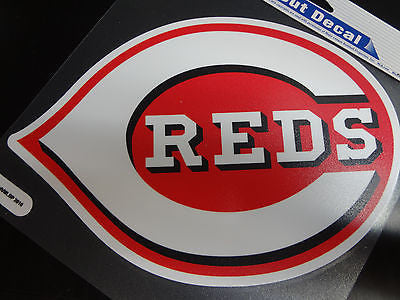 Cincinnati Reds Colored Window Die Cut Decal Wincraft Sticker 8x8 MLB