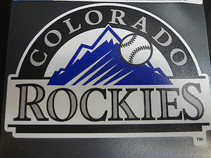Colorado Rockies Colored Window Die Cut Decal Wincraft Sticker 8x8 MLB
