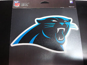 Carolina Panthers Colored Window Die Cut Decal Wincraft Sticker 8x8 NFL