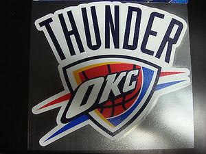 Oklahoma City Thunder Colored Window Die Cut Decal Wincraft Sticker 8x8 NBA