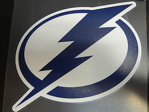 Tampa Bay Lightning Colored Window Die Cut Decal Wincraft Sticker 8x8 NHL