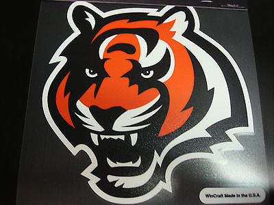Cincinnati Bengals Colored Window Die Cut Decal Wincraft Sticker 8x8 NFL