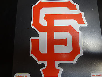 San Francisco Giants Colored Window Die Cut Decal Wincraft Sticker 8x8 MLB