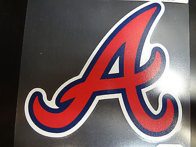 Atlanta Braves Colored Window Die Cut Decal Wincraft Sticker 8x8 MLB