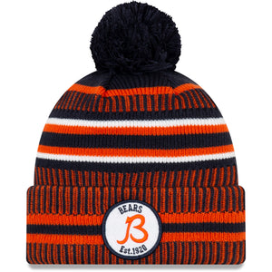 "Chicago Bears Knit Hat New Era 2019 Sport On Field Sideline Home ""B"" Cap NFL"
