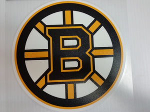 Boston Bruins Colored Window Die Cut Decal Wincraft Sticker 8x8 NHL
