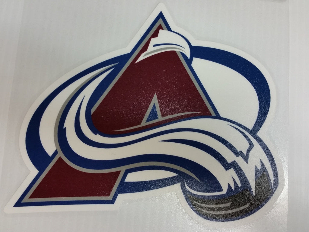 Colorado Avalanche Colored Window Die Cut Decal Wincraft Sticker 8x8 NHL