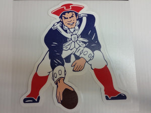 New England Patriots Colored Window Die Cut Decal Wincraft Sticker 8x8 NFL