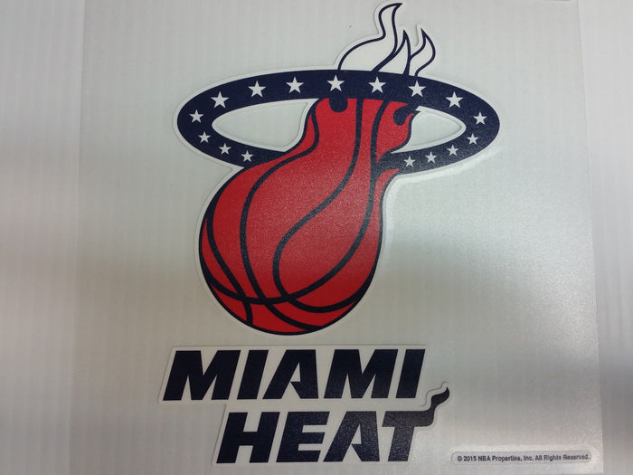 Miami Heat Colored Window Die Cut Decal Wincraft Sticker 8x8 NBA
