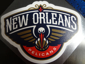 New Orleans Pelicans Colored Window Die Cut Decal Wincraft Sticker 8x8 NBA