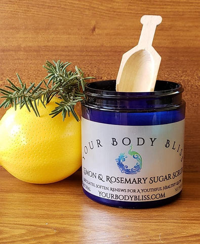 Rosemary & Lemon Sugar Scrub
