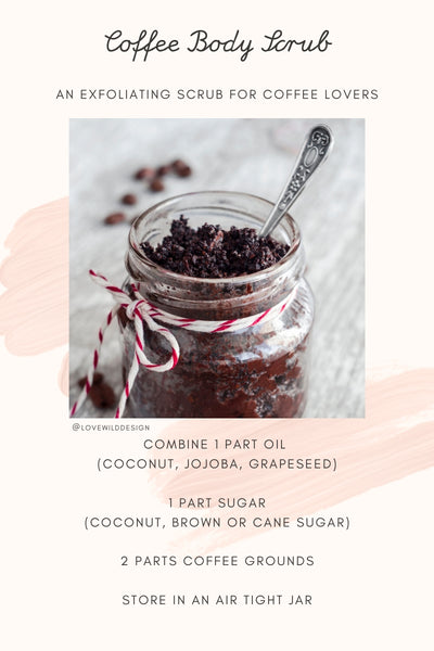 simple diy coffee scrub