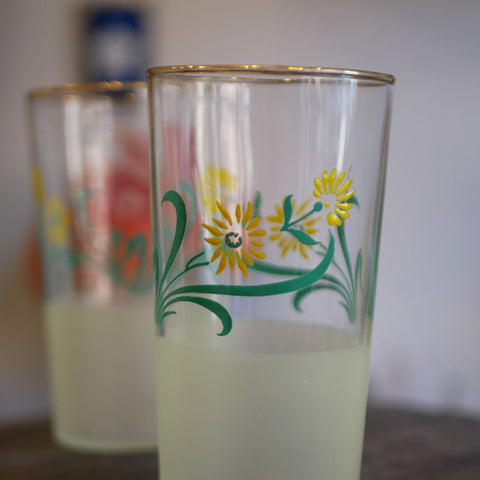 Frosted Daisy Tumblers