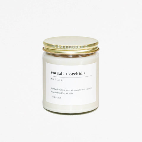 Sea Salt & Orchid -  8 oz Candle