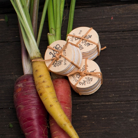 Lovewild Design Carrot & Tomato Seed Coins