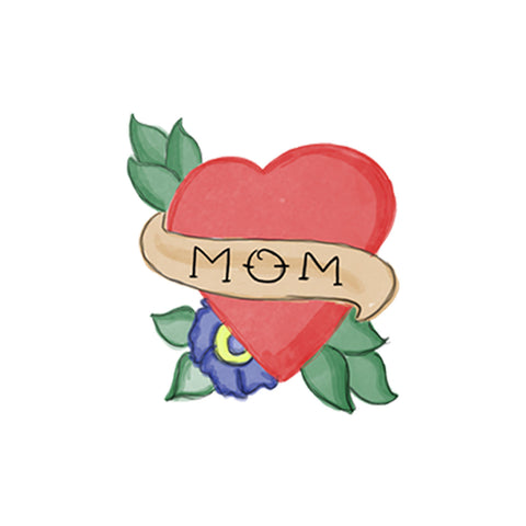 Lovewild Design Watercolor Temporary Tattoo Mom