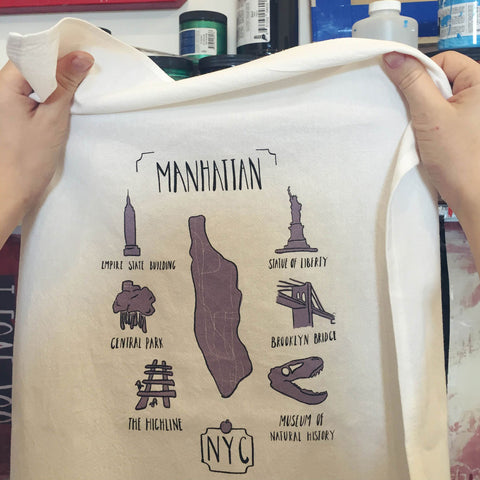 Manhattan Map Towel