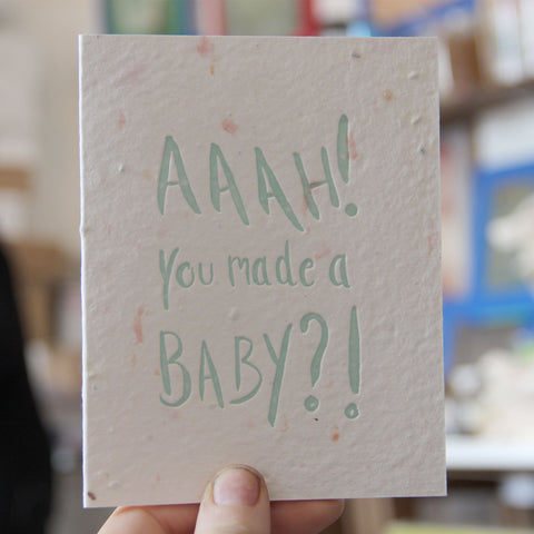 Lovewild Design Plantable Letterpress Baby Card