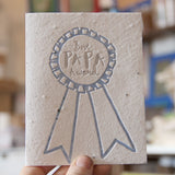 Lovewild Design Plantable Letterpress Best Papa Card