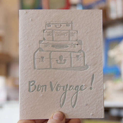 Lovewild Design Plantable Letterpress Bon Voyage Card