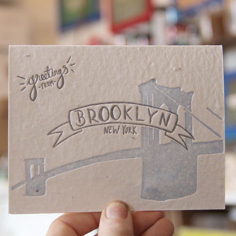 Lovewild Design Plantable Letterpress Brooklyn Card