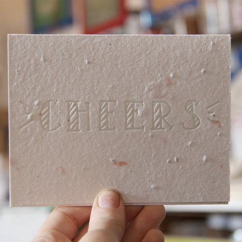 Lovewild Design Plantable Letterpress Cheers Card