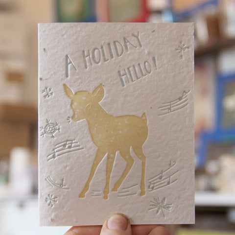 Lovewild Design Plantable Letterpress Holiday Hello Card