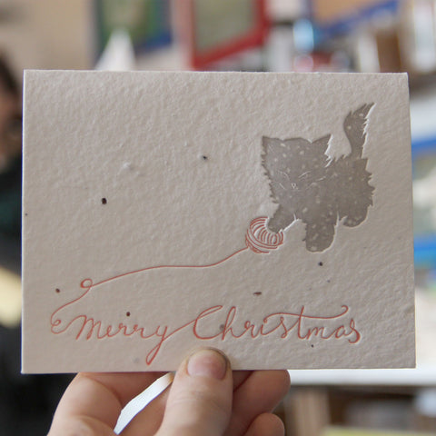 Lovewild Design Plantable Letterpress Christmas Card