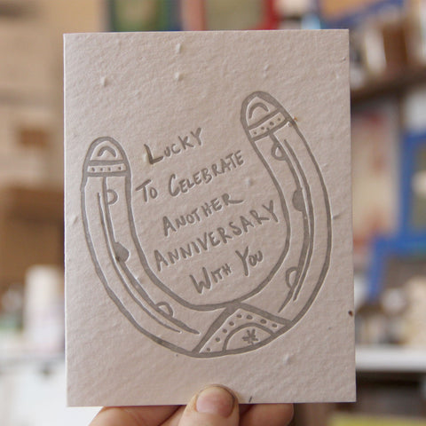 Lovewild Design Plantable Letterpress Lucky Anniversary Card