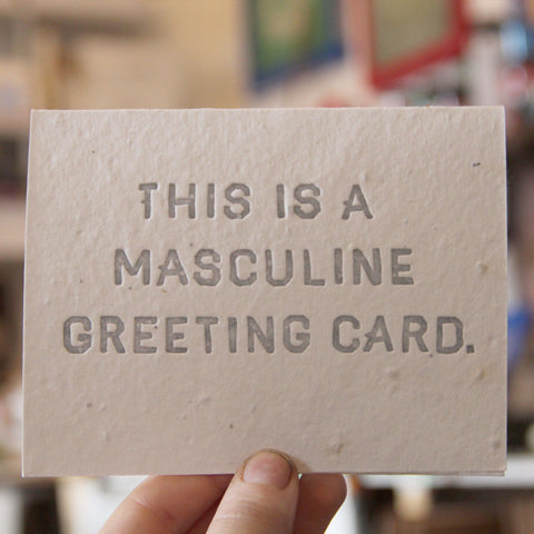 Lovewild Design Plantable Letterpress Masculine Greeting Card